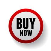 Buy now vector sign — Stock Vector