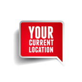 Your current location pointer — Stock Vector