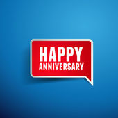 Happy anniversary greeting template — Stock Vector