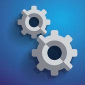 Icono de configuración de rueda dentada engranaje mecanismo vector — Vector de stock