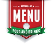 Vector. Restaurant menu design — Stock Vector