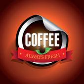 Coffee label vector sticker — Stock Vector