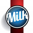 Milk label lettering - vector — Stock Vector