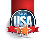 We are USA — Stock Vector