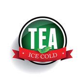 Iced Tea label — Stock Vector