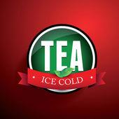 Etykieta herbata mrożona — Wektor stockowy