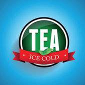 Iced Tea label — Stock Vector