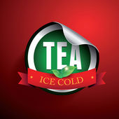 Iced Tea label — Vector de stock