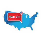 Fiscal cliff label — Stock Vector
