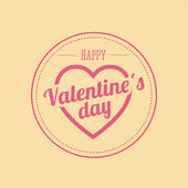 Happy valentines day card — Stockvektor