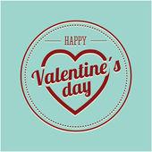 Feliz dia dos namorados cartão — Vetor de Stock