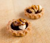 Nut and honey cupcake — Stock Photo