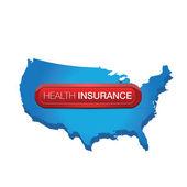Health insurance label — Stock Vector
