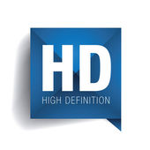 HD - high definition label — 图库矢量图片