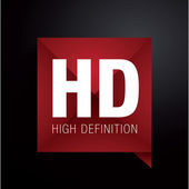 HD - high definition label — Stock Vector