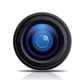 Camera photo lens, vector. — Stock Vector