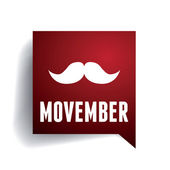 Movember mustache — Vector de stock