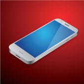 Silver smartphone vector — Stock Vector