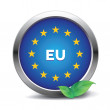 EU flag button — Stock Vector