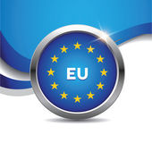 EU flag button — Stock Vector