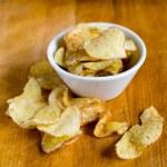 Potato chips bowl — Stock Photo