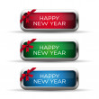 Happy new year label — Stock Vector