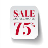 Sale seventy five percent label — Stock Vector