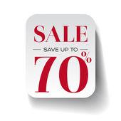 Sale seventy percent label — Stock Vector