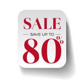 Sale eighty percent label — Stock Vector