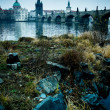 Stock Photo: Charles Bridge over Vltavriver in Prague, Czech Republic.