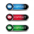 Stockvektor : Contact us icon