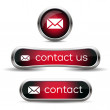 Contact us icon — Vector de stock