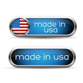 Made in USA button set — Stock Vector
