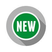 Novo design plano do rótulo. vector. — Vetor de Stock