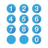 Numbers set. Vector flat design — Stock Vector