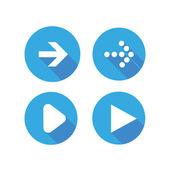 Vector illustration of plain round arrow icons — Stock Vector