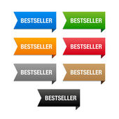 Bestseller labels. Vector. — Vector de stock
