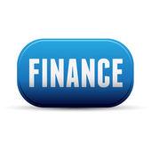 Finance button blue vector — Vector de stock