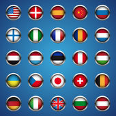World flags set vector — Stock Vector