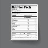 Nutrition Facts Food Label — Stock Vector