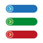 Empty button set vector — Stock Vector