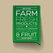 Farm fresh product label — Stock Vector