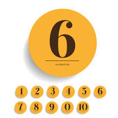 Number set vector — Stock Vector