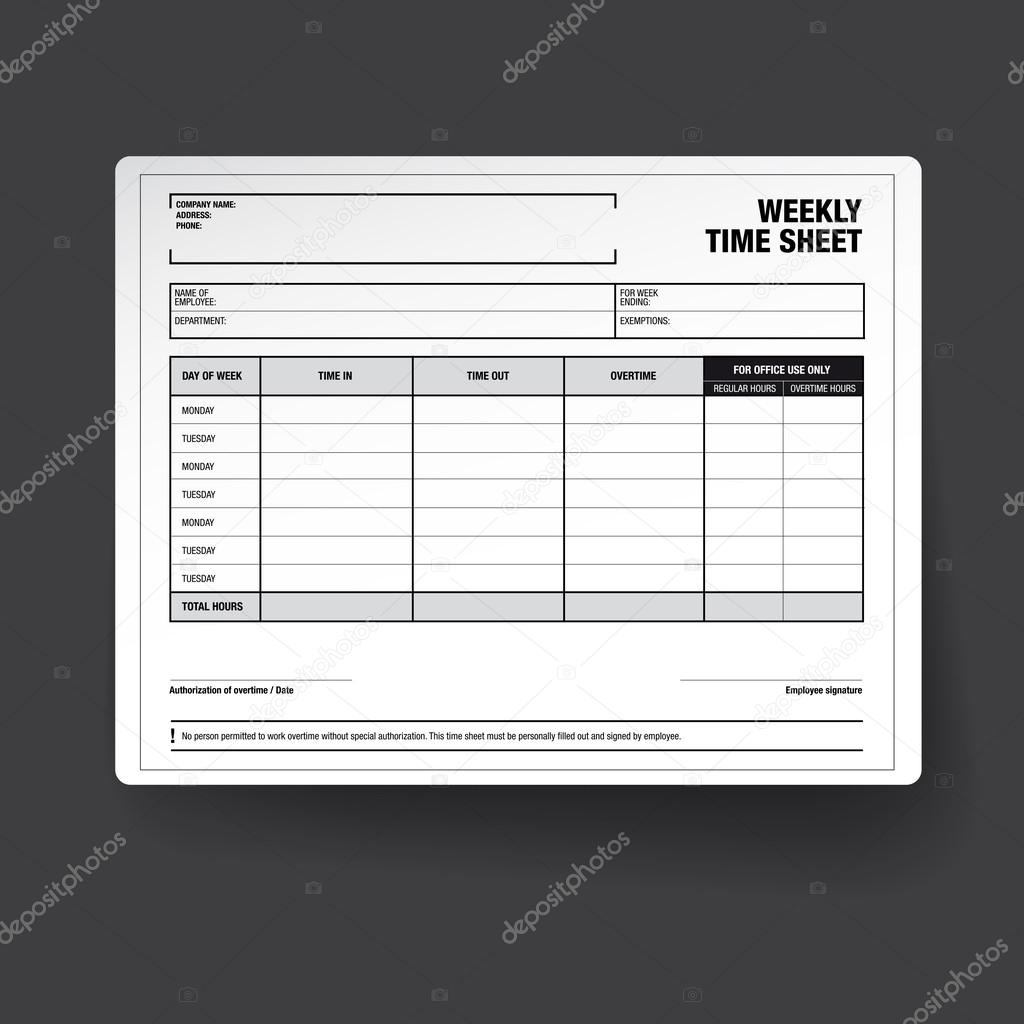 Awesome Employee Timesheet Template Contemporary - Professional ...