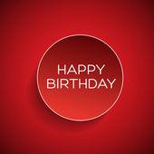 Happy birthday badge — Stock Vector