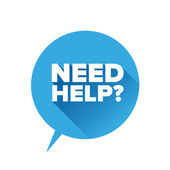 Need help? Flat design vector — Vecteur