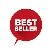 Bestseller sticker. Flat design vector — 图库矢量图片