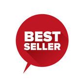 Bestseller sticker. Flat design vector — 图库矢量图片