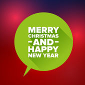 Merry Christmas and Happy new Year. Flat design vector — 图库矢量图片