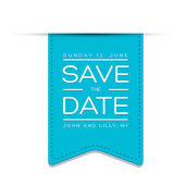 Save the date template vector — Stock Vector
